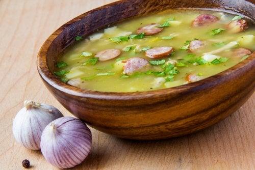 Una deliciosa receta de sopa serrana
