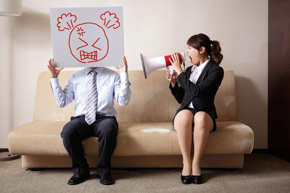 Pareja con barreras de comunicación