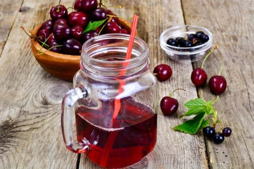 jugo de cerezas