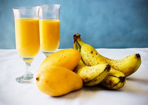 jugo mango y platano y salud visual