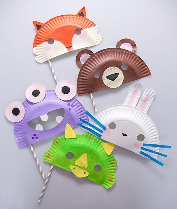 Manualidades infantiles fáciles: máscaras de animales