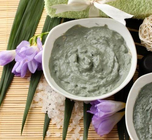 Receta de mascarilla de arcilla verde y aceite de coco