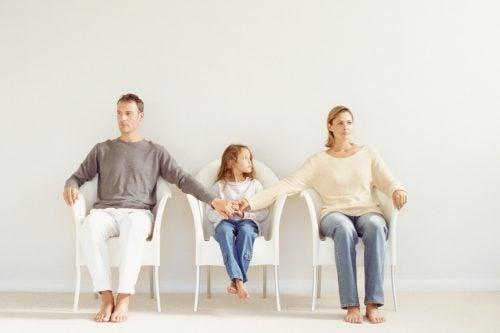 Padres divorciándose