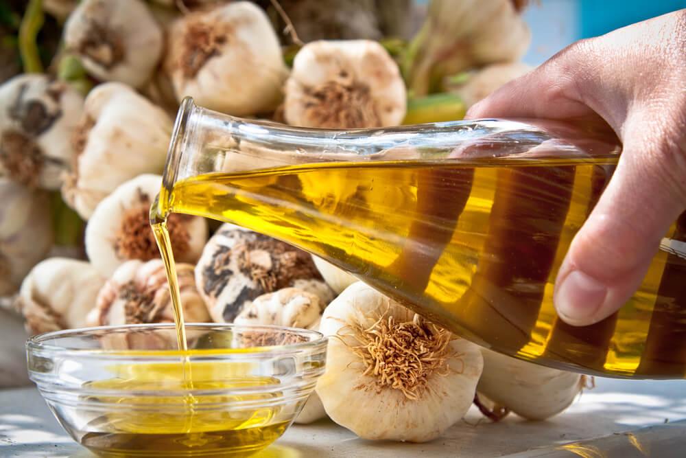 Ajo con aceite de oliva