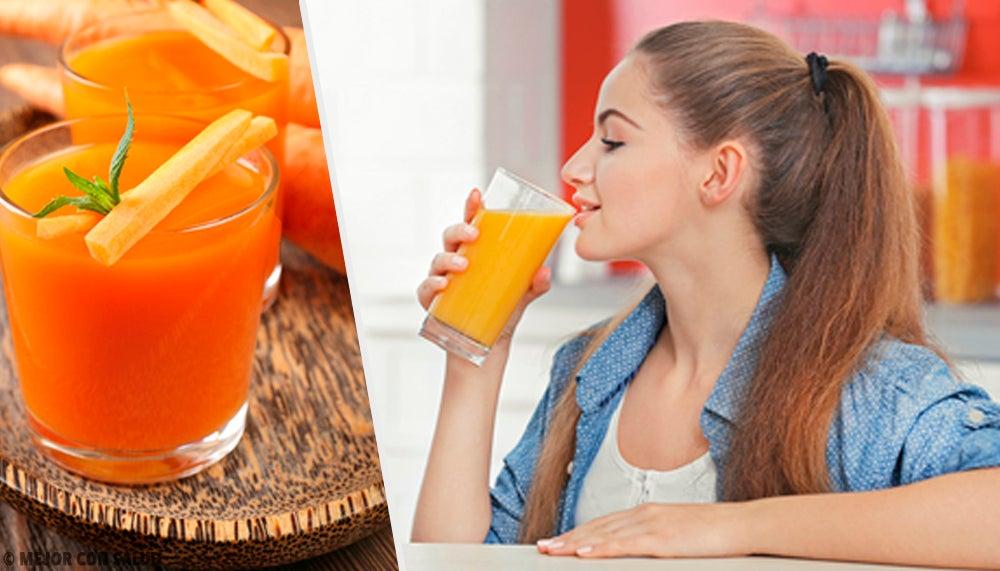 5 sencillos batidos con zanahoria para depurar tu organismo