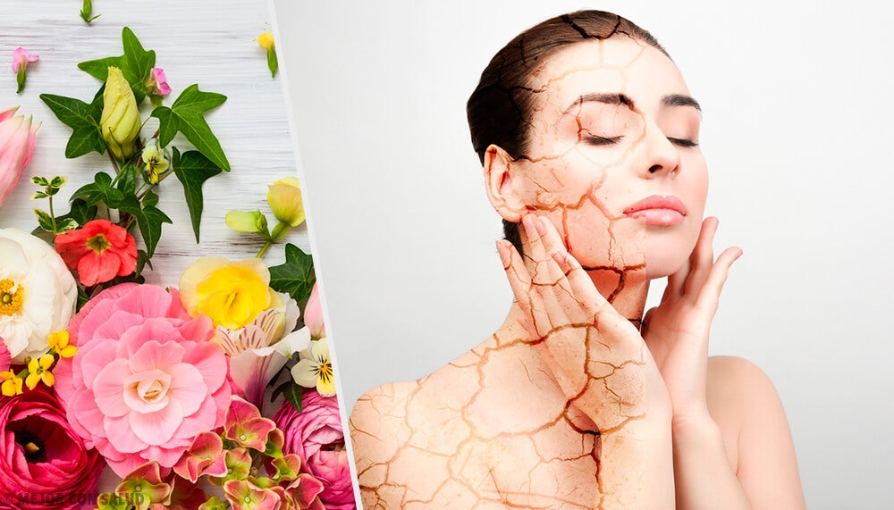 Los extractos florales en los productos para cuidar la piel