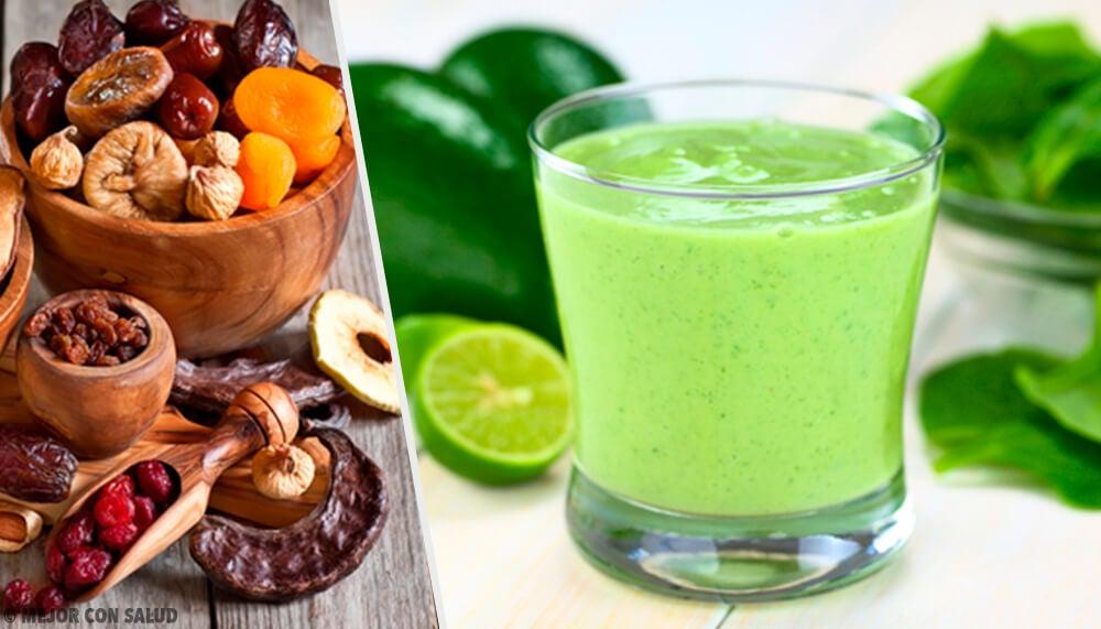 Aprende a preparar tus saludables y nutritivos batidos verdes