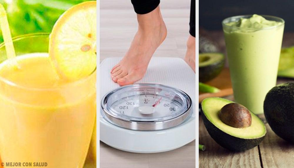 5 sencillas recetas de bebidas recomendadas para perder peso