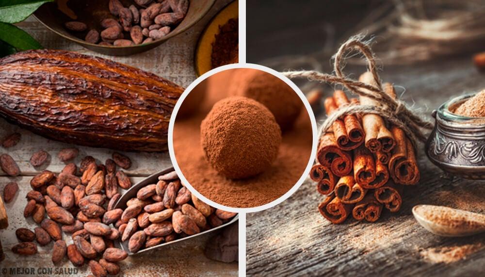 Bombones de cacao, maca, canela y coco para ganar energía y vitalidad