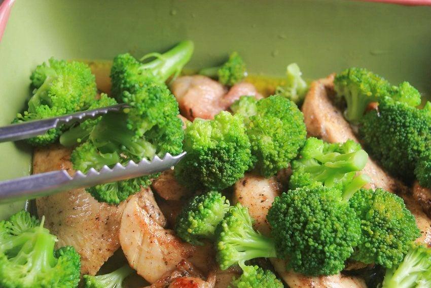 Brócoli gratinado con jamón