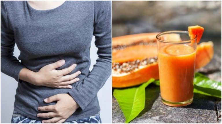 Papaya, té verde y aloe vera para la inflamación abdominal