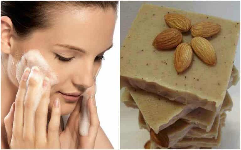 Jabón artesanal de coco y leche de almendras para cuidar tu piel