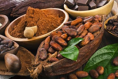 Ingrediente para preparar bombones de cacao