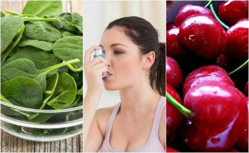 Combate el asma de forma natural consumiendo estos 7 alimentos