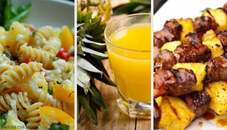 3 deliciosas recetas con piña