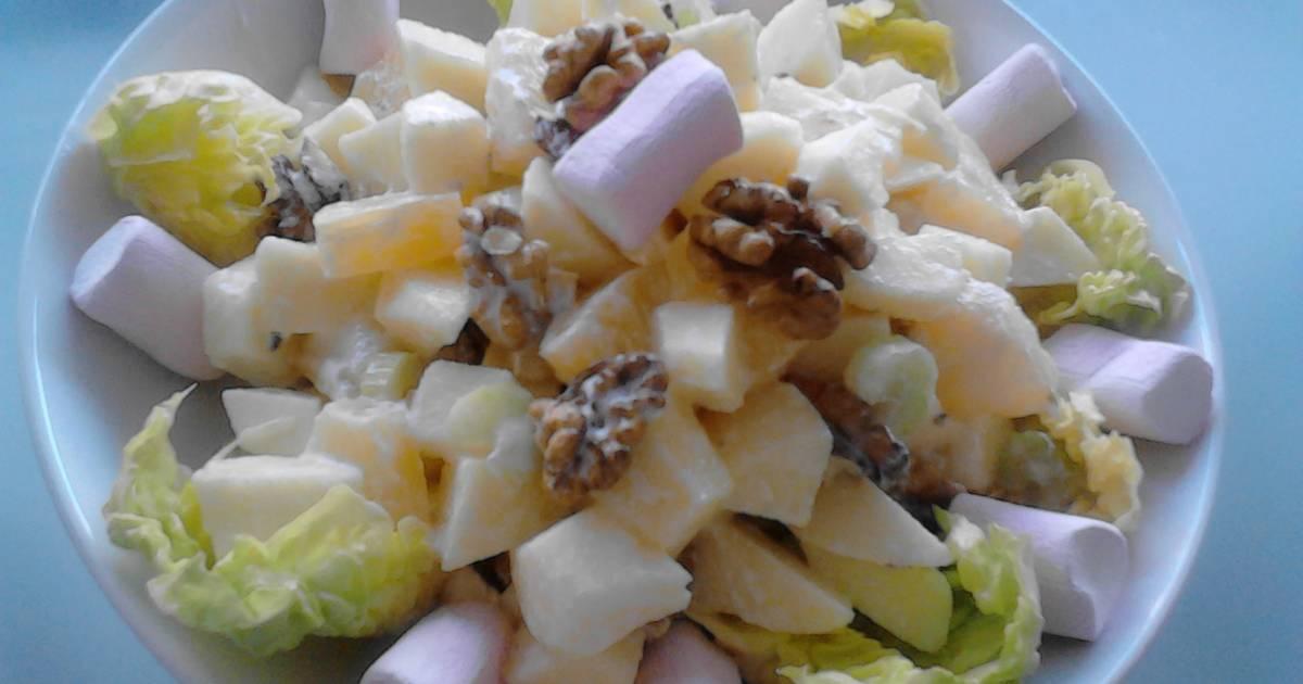 Ensalada de dulce de manzana con piña