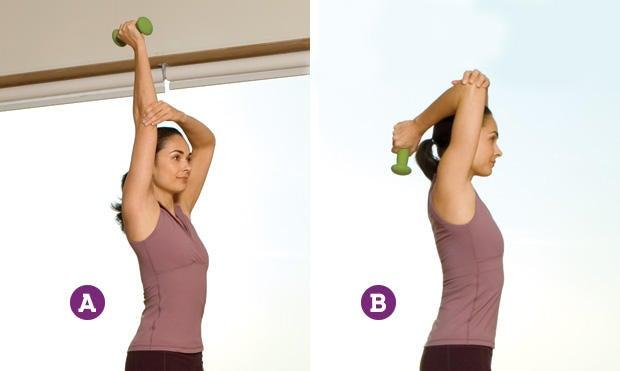Extensión de tríceps para brazos más tonificados