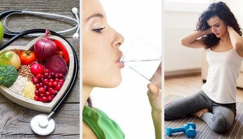 Comida-sana-agua-y-ejercicio