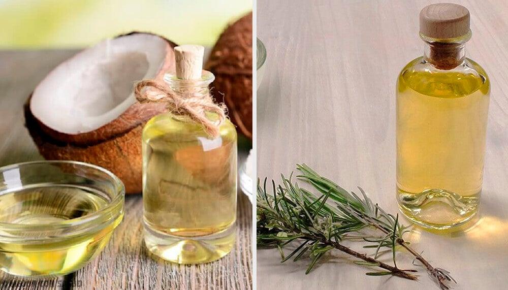 Loción nutritiva de aceite de coco, pomelo y romero para reducir volumen