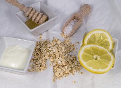 Mascarilla de avena y limón para piel mixta