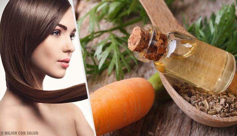 5 mascarillas con aceite de zanahoria para fomentar el crecimiento del cabello