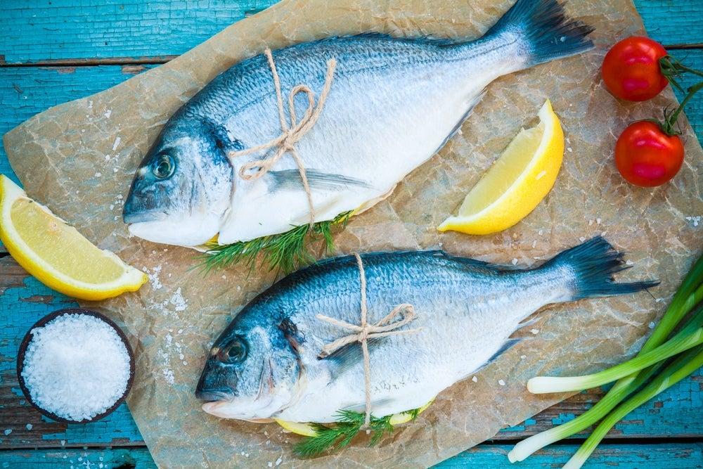Pescado azul beneficioso para la piel.