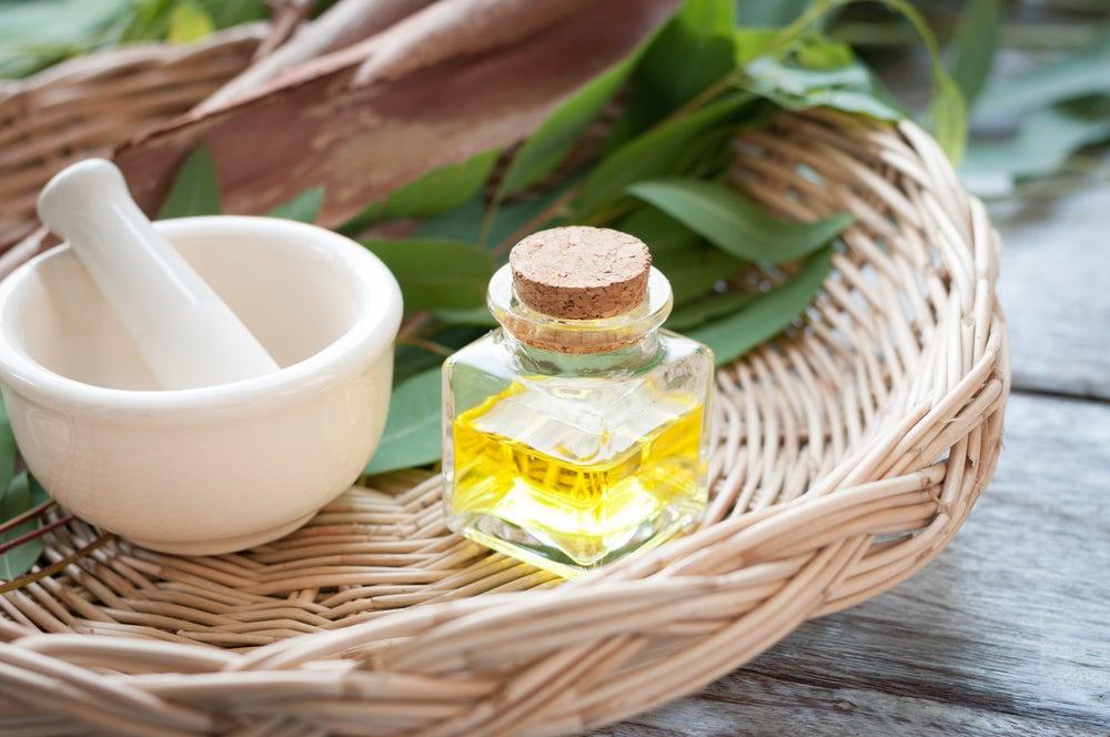 Sales de Epsom y aceite de eucalipto