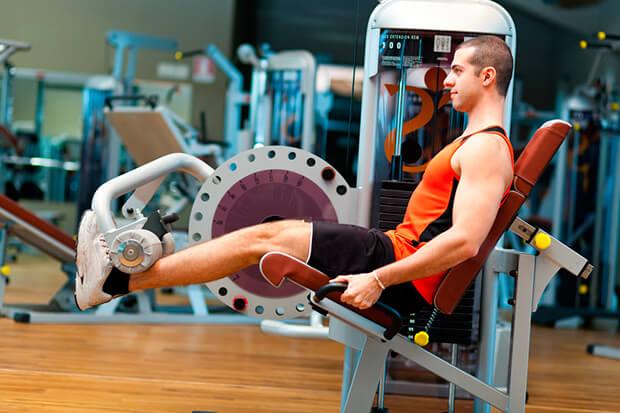 Flexión pierna sentado