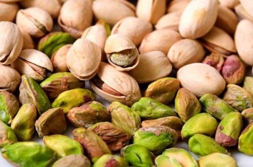 Frutos secos pistachos.
