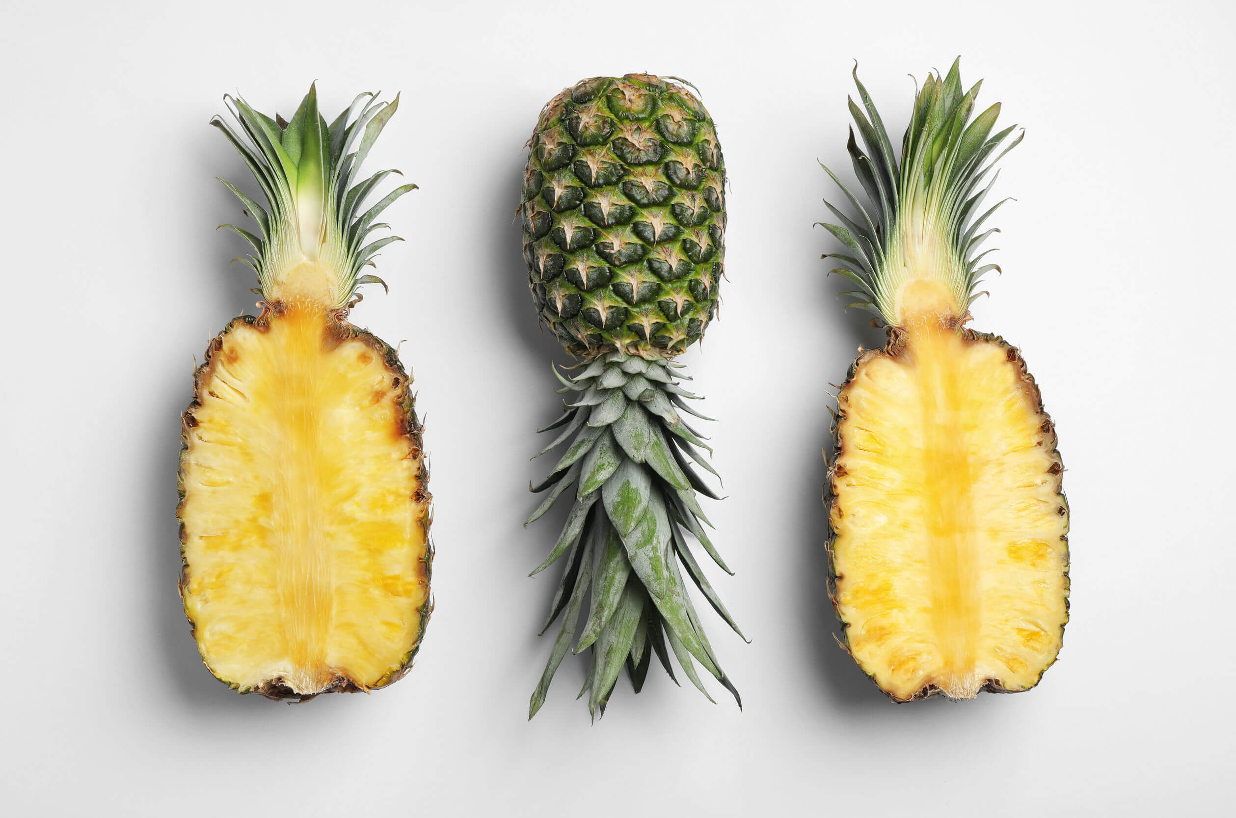 Piña con antioxidantes.