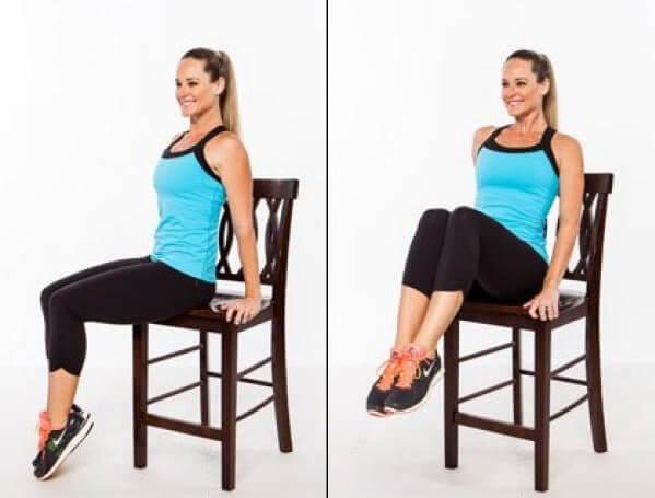 Cómo tonificar tu abdomen con 5 sencillos ejercicios con una silla
