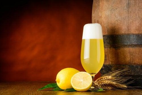 tratamiento de cerveza y limon