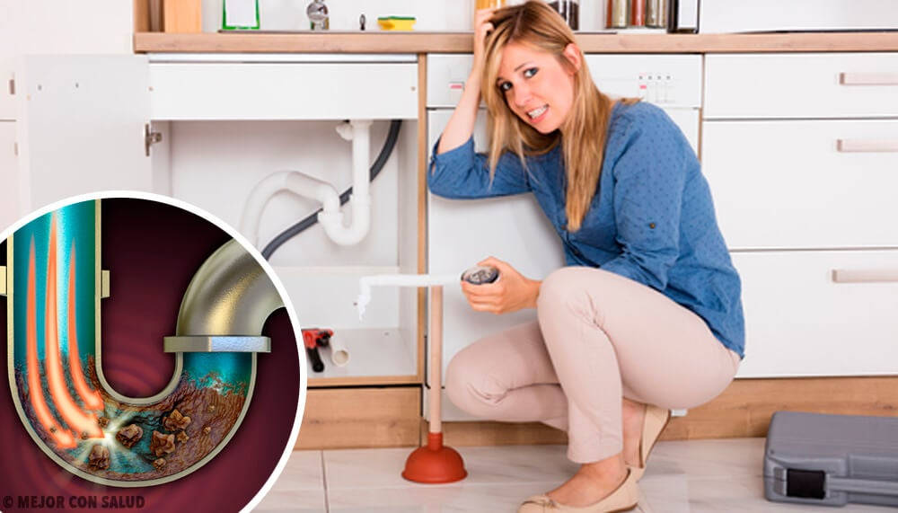 4 formas caseras de desatascar las tuberías