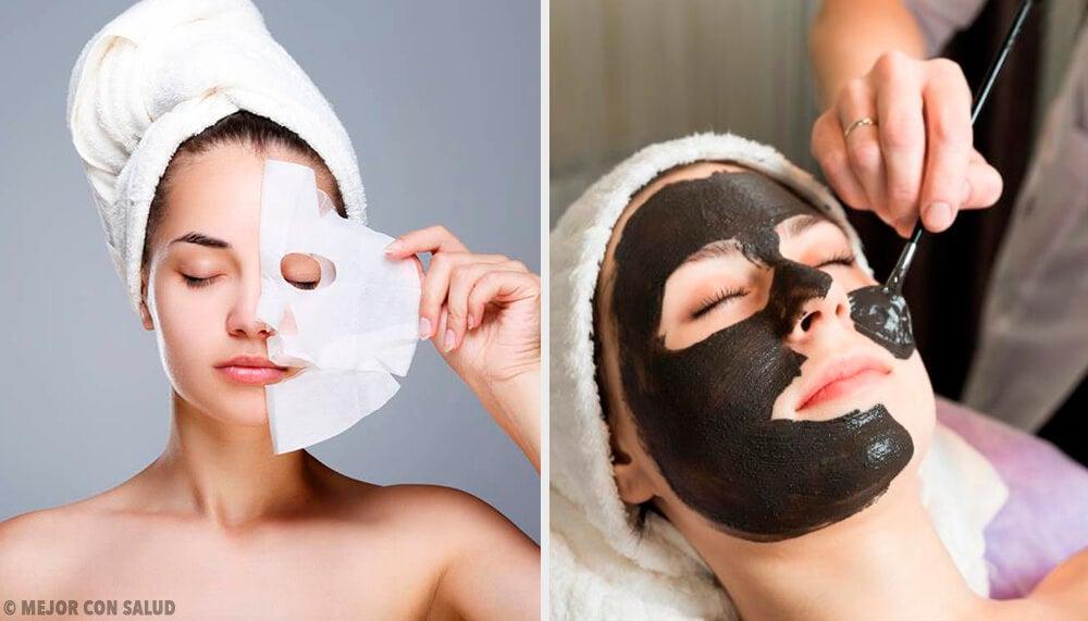 6 mascarillas peel-off con gelatina para revitalizar la piel del rostro