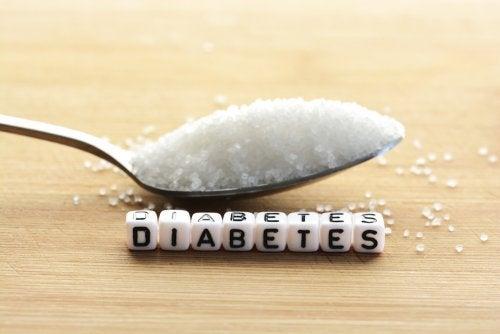 """Cucharada de azúcar y la palabra """"Diabetes"""""""
