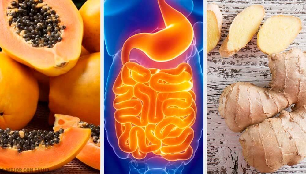 Frutas y hierbas para aliviar complicaciones digestivas