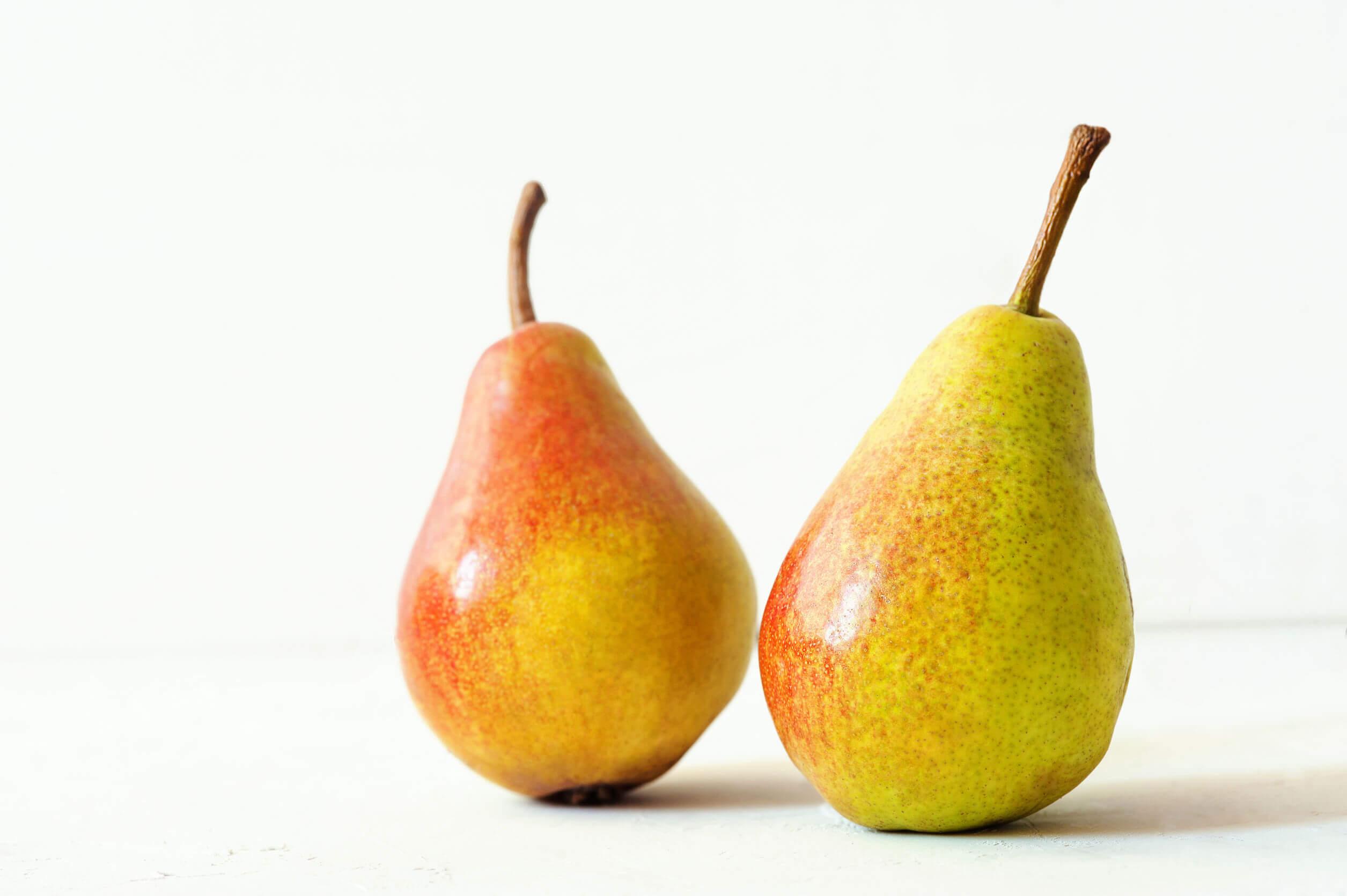 Entra las frutas puede comer un bebé están las peras.