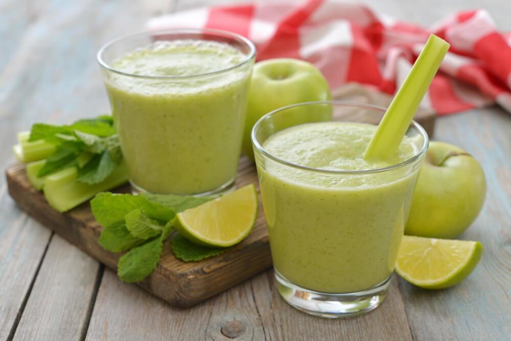 Batidos verdes de manzana