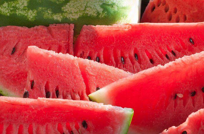 Frutas para combatir la retención de líquidos: sandía