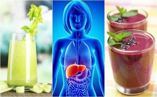 Depura tu hígado con 4 licuados de frutas y vegetales