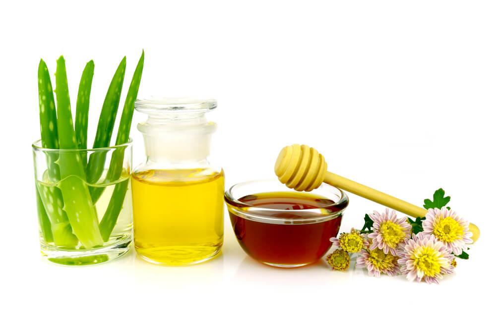 Desmaquillante de aloe vera, aceite y miel