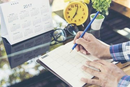 Organizar tiempo para mejorar el bienestar psicológico