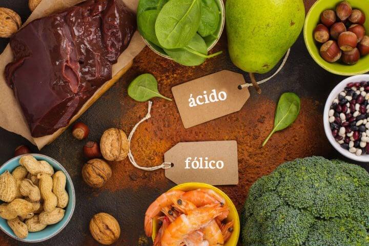 Alimentos ricos en ácido fólico.