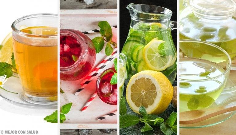 4 bebidas con menta para mantenerte hidratado
