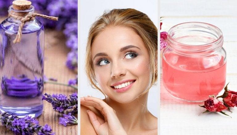 Limpiadores faciales a base de flores