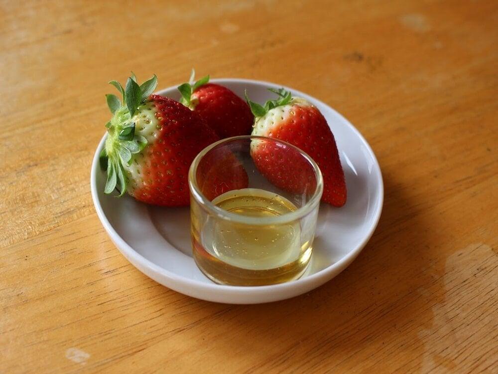 Mascarilla de aceite de oliva y fresas