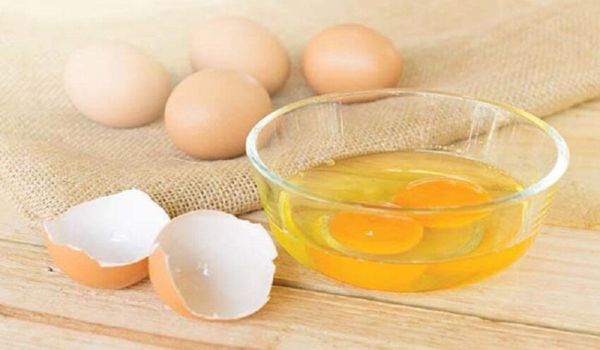 huevo para el pelo seco