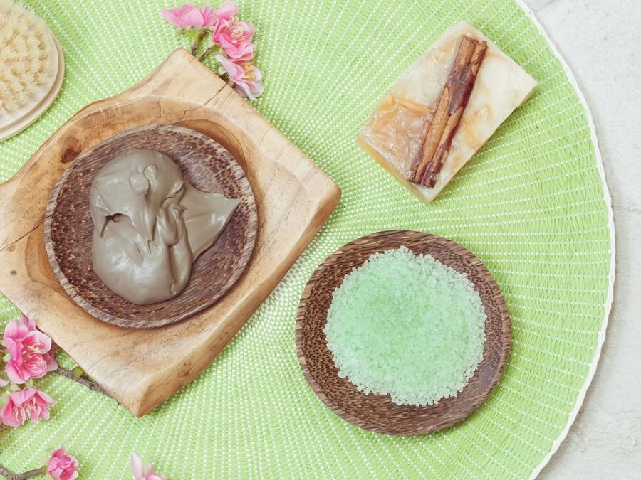 Mascarilla exfoliante con té verde