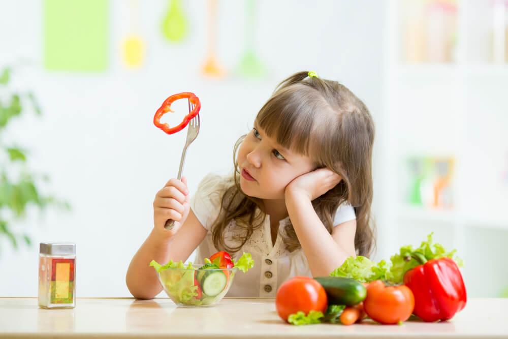 Niños que rechazan la verdura