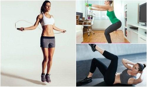 ¿No tienes tiempo para ir al gimnasio? Puedes hacer ejercicios en tu casa